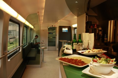 on-board restaurant