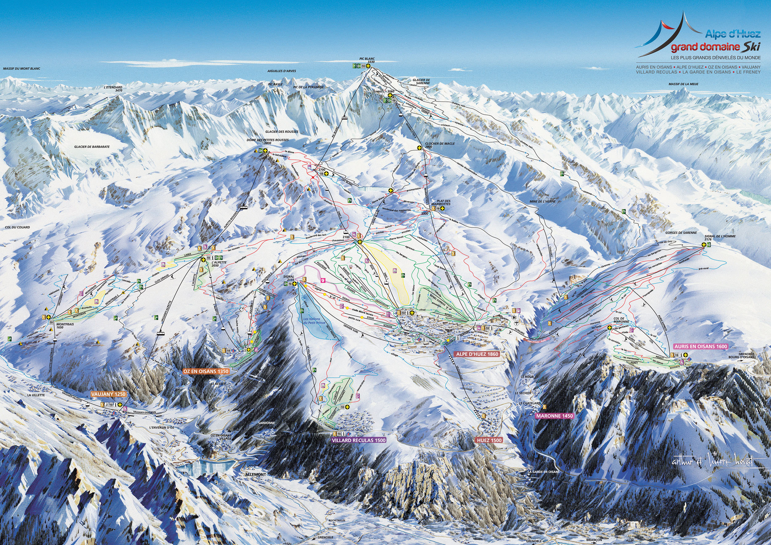 Alpe d 39 huez slopes snowcarbon - Alpe d huez office de tourisme ...
