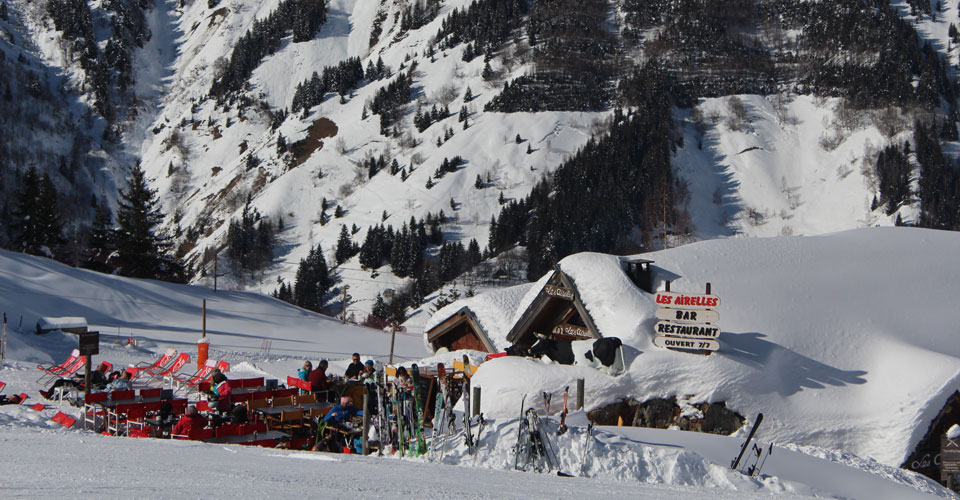 Photo: Daniel Elkan - restaurant on the slopes of Les Arcs