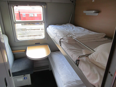 Alpen Express sleeper compartment