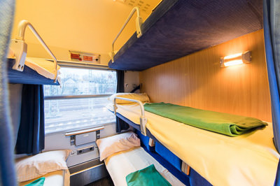 Alpen Express sleeper train couchette