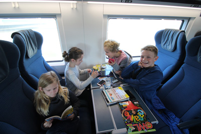 ski travel by train to Alps