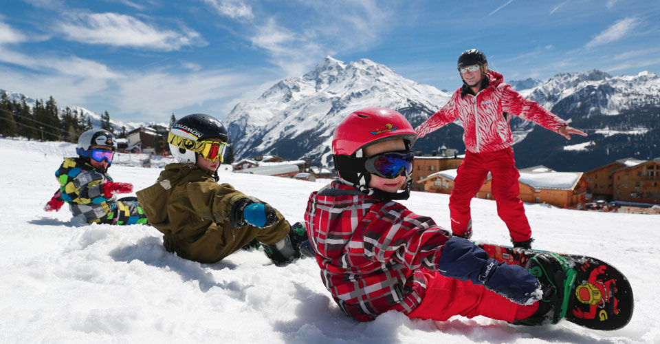 Photo: ESF La Rosiere - La Rosiere children ski lesson