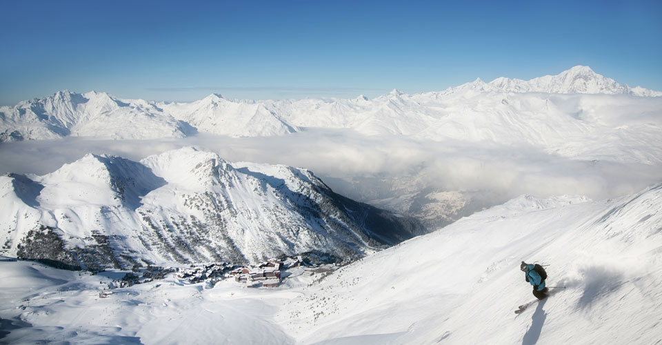 Photo: M.Reyboz - on the slopes in Les Arcs