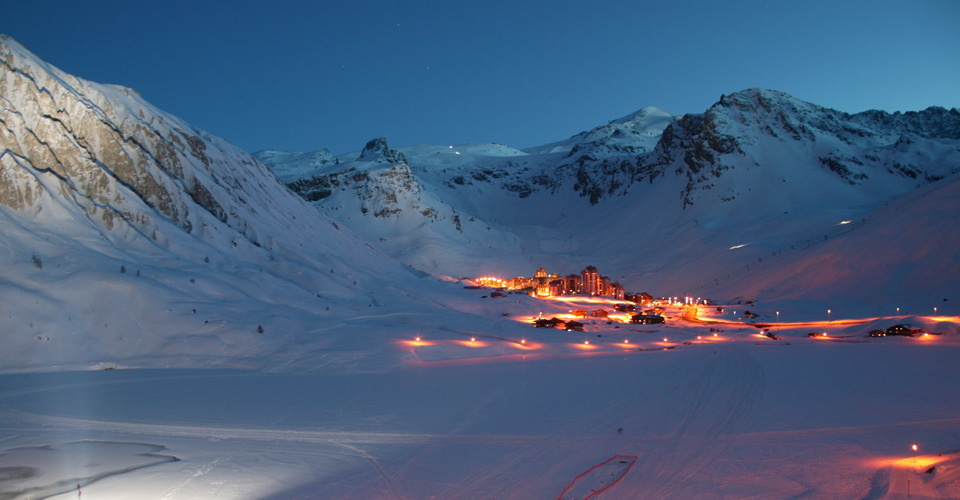 Photo: Tignes Tourism - Tignes village evening