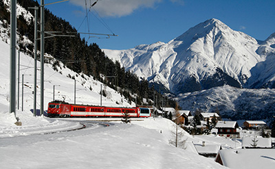 Train to Swiss ski resorts