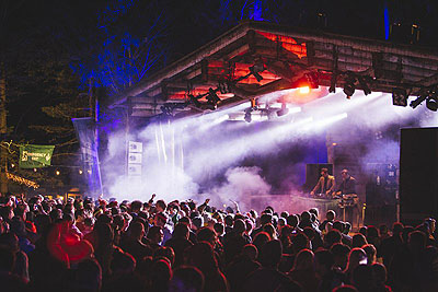 Snowbombing festival by train