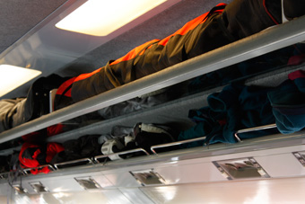 luggage and skis on Eurostar