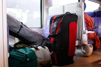 luggage on trains