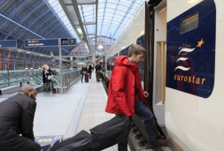 Luggage on Eurostar to Paris and Ski Train to Alps