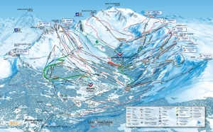 Meribel Three Valleys Piste Map