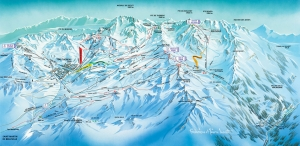 Val Thorens - Three Valleys piste map